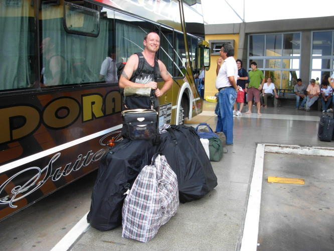 Ready to get on the bus to Buenos Aires
