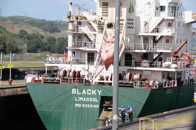 Vessel at the lock
