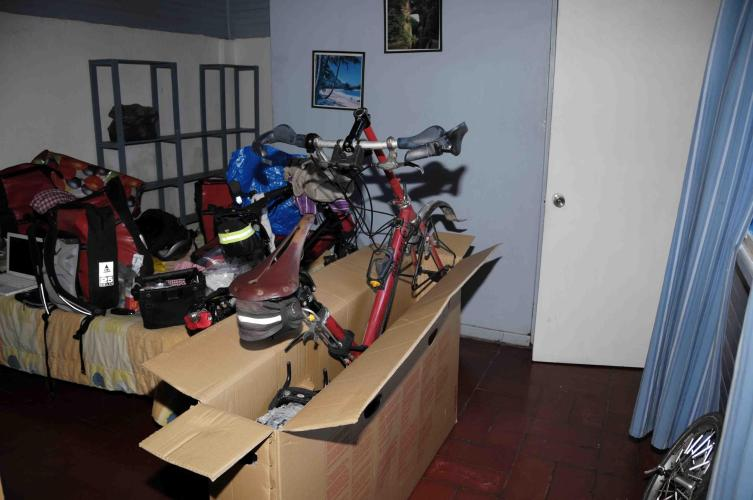 Packing the bikes