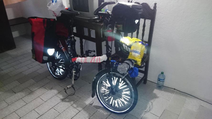 Preparing the bike