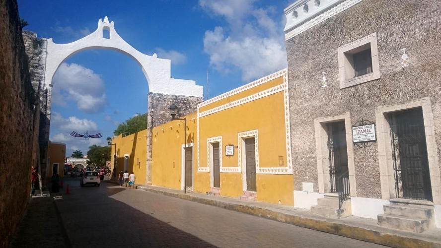 Izamal typical colonial building