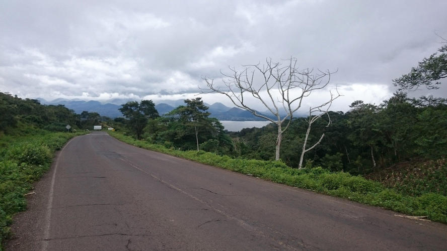 Firs view of Catemaco lake