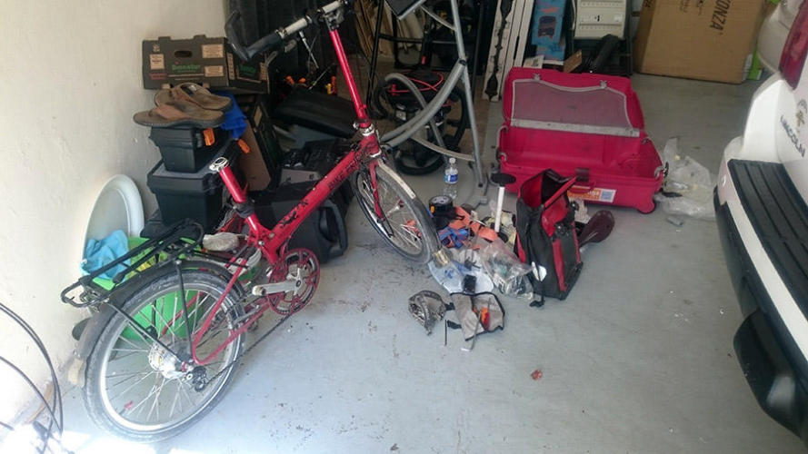 Starting to disassemble the bikes