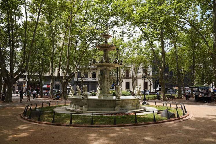 Nice fountain at plaza Matriz