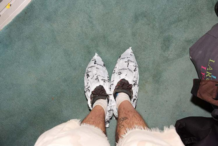 Special shoes covers to keep the carpet clean