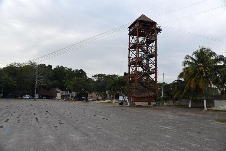 Big parking lot for the tourist masses