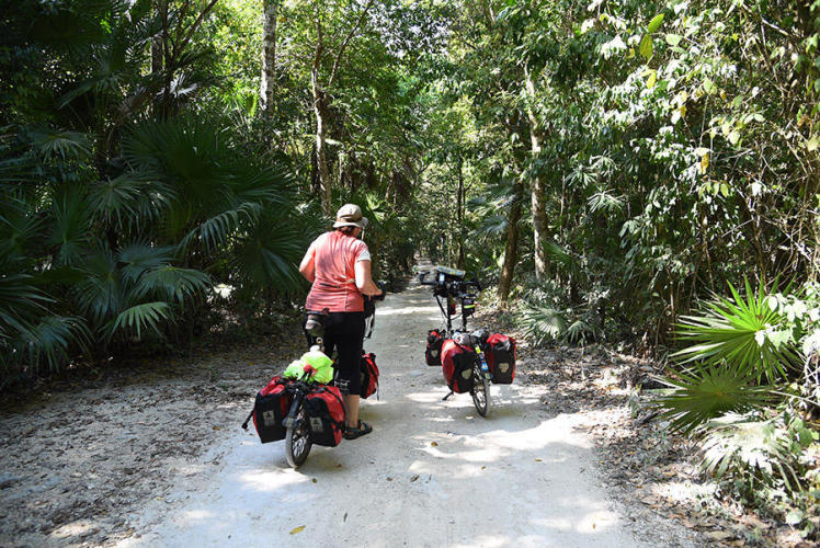 Finding the way to our cabanas Maya Eco Village
