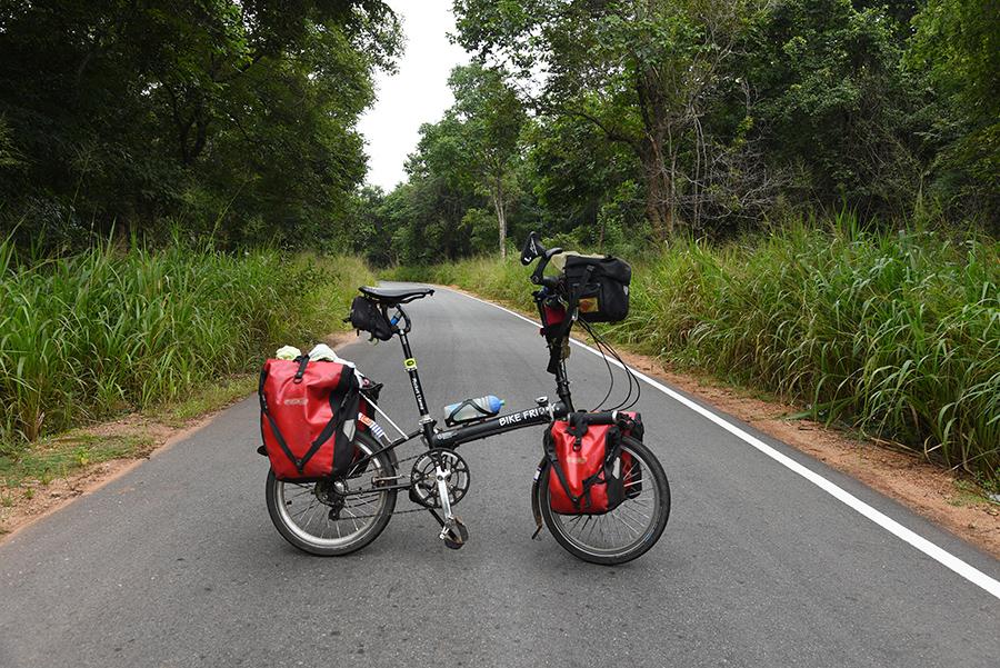 Bike Friday road block