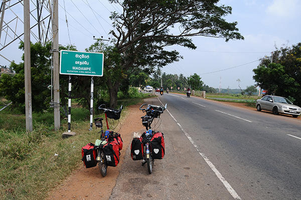 Passing small villages