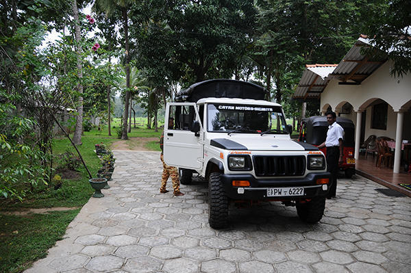 Our lovely Mahindra jeep