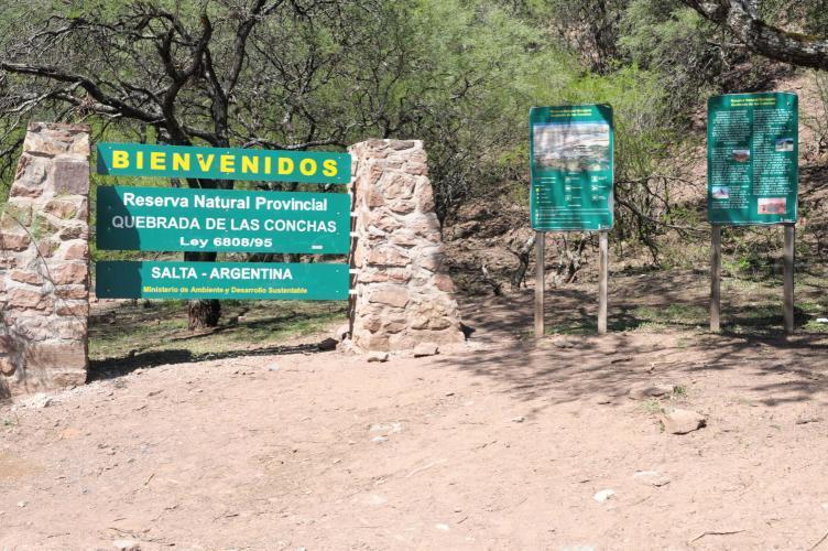 Entrance to the Quebrada de las Conchas