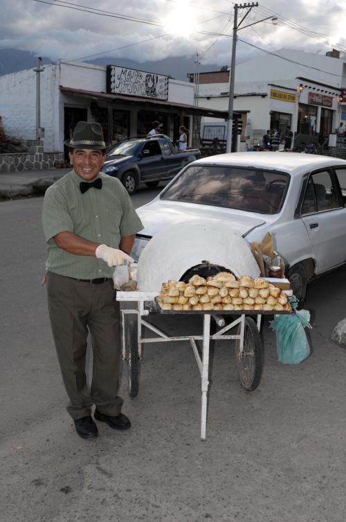 Empanadas seller in Tafi del Valle