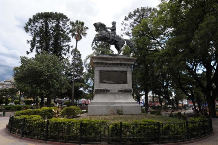 Main square of Catamarca,statue of general San Martin