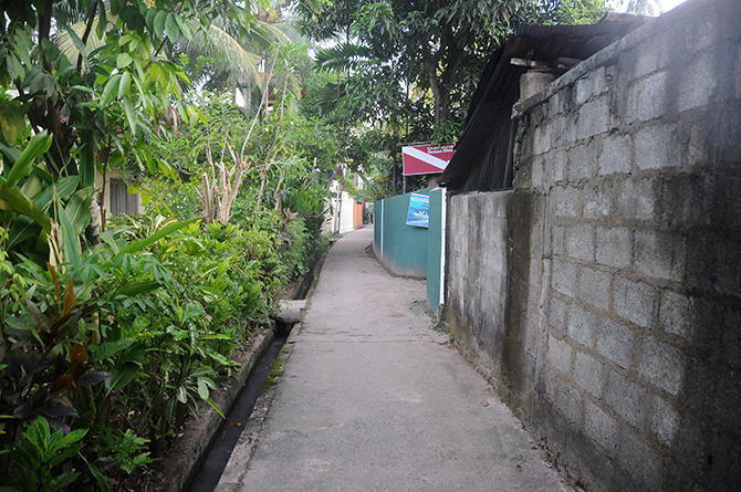 Small path to our hidden guest house
