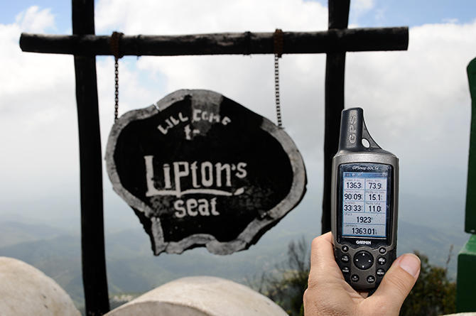 he highest point of Sir Lipton´s tea plantations where he used to get his ideas-almost 2000m height