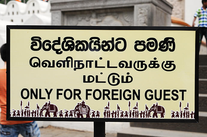 "Tourists are ""foreign guests"" here"