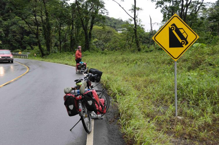 Sign telling the climbs get steeper