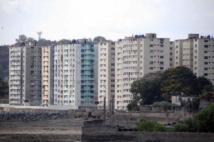 Slums at city entry