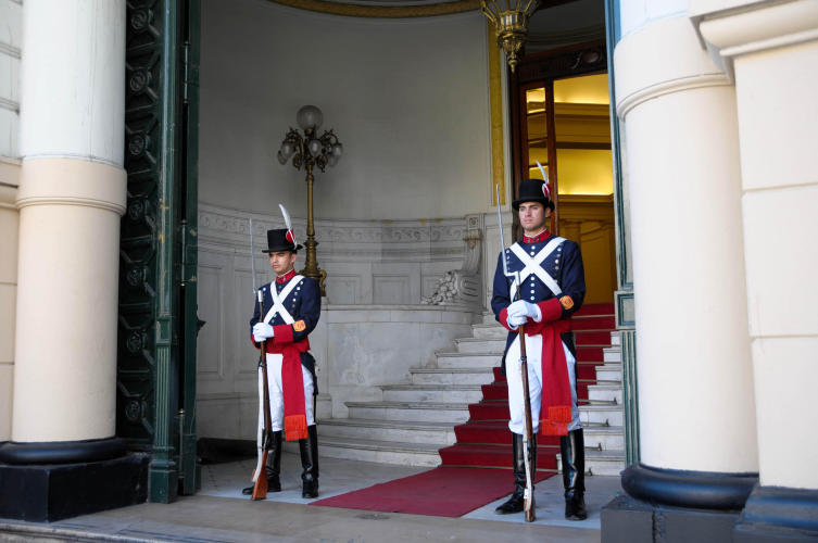 Guards at an official building