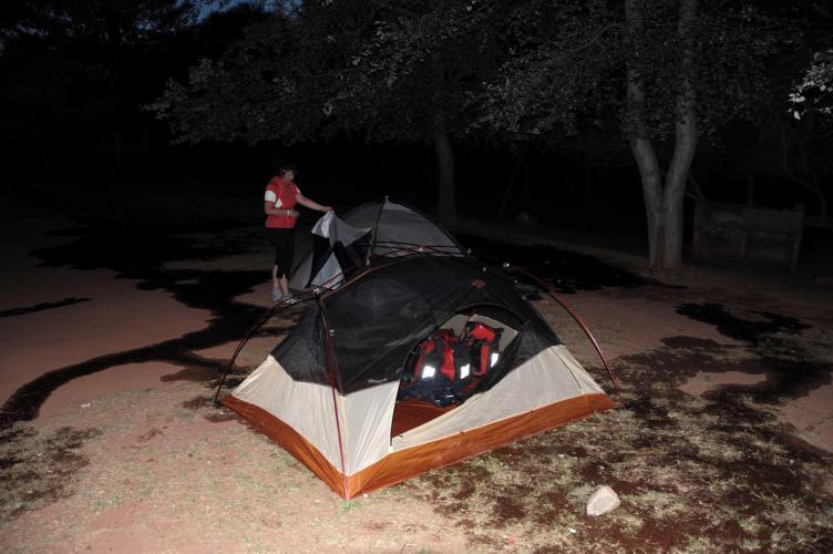 Wet campground