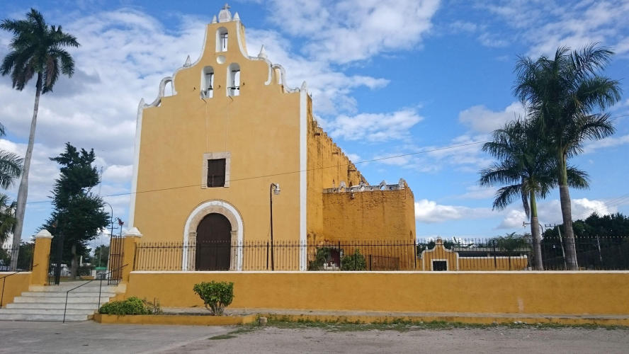 Typical church in Mexico