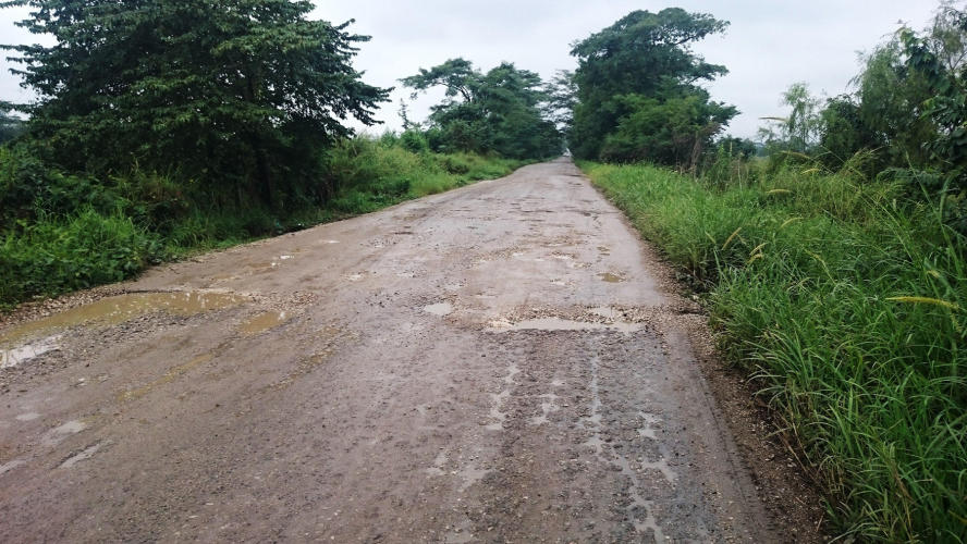 This was the last part of the road going to the town