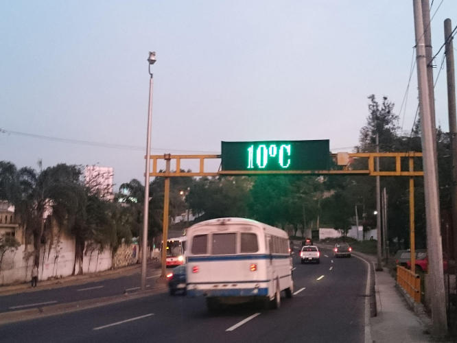 Early in the morning leaving Xalapa