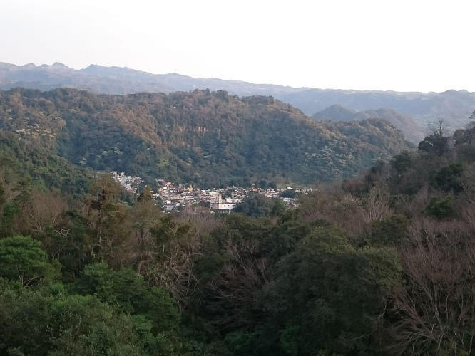 Nice view of a small village in the mountains