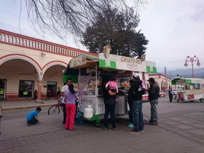 Elote and corn seller
