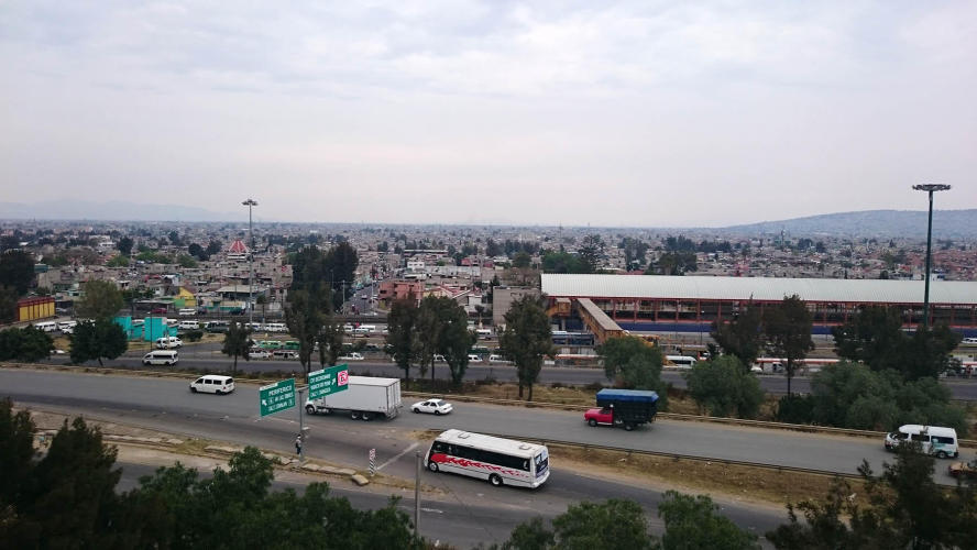 Getting close to Mexico city
