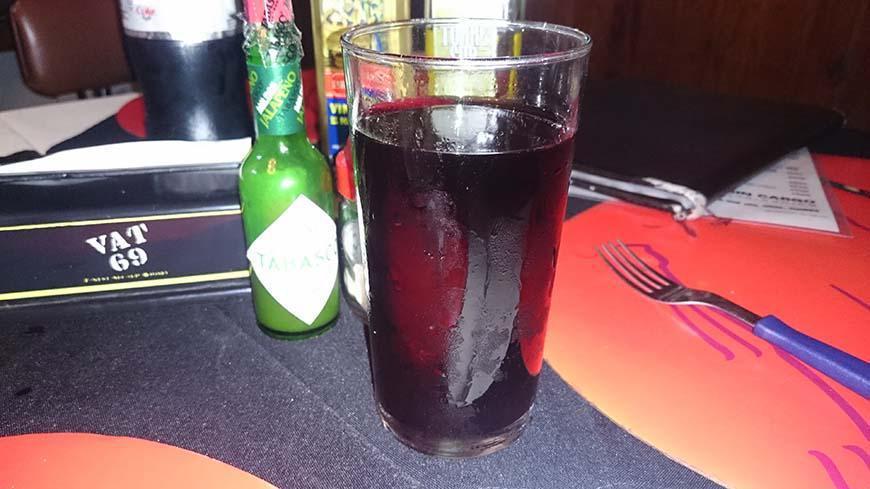 Uruguay glass of wine