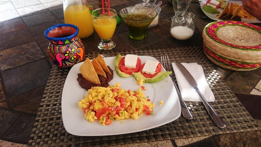 Veronica lovely huevos a la mexicana (we will miss them)