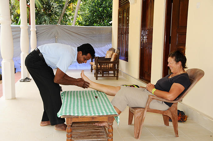 Ayurvedic massage on our terrace