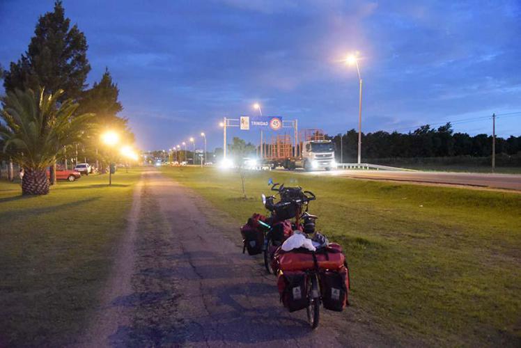 Arriving in Trinidad it´s already dark