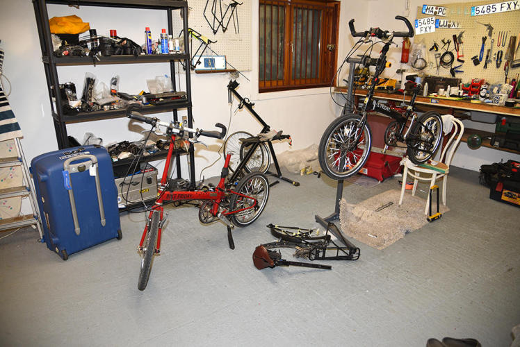 Start disassembling the bikes