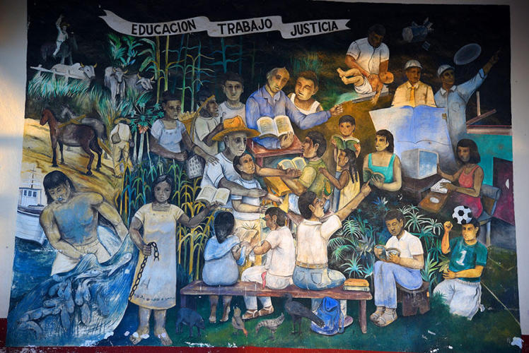 Mural at city hall