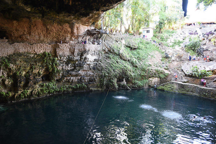 Cenote Zaci the best pool in town