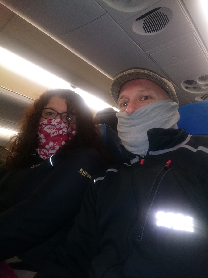Freezing inside the plane