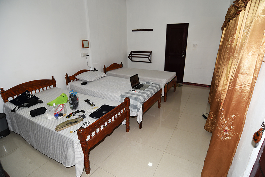 My room at Ashram guesthouse