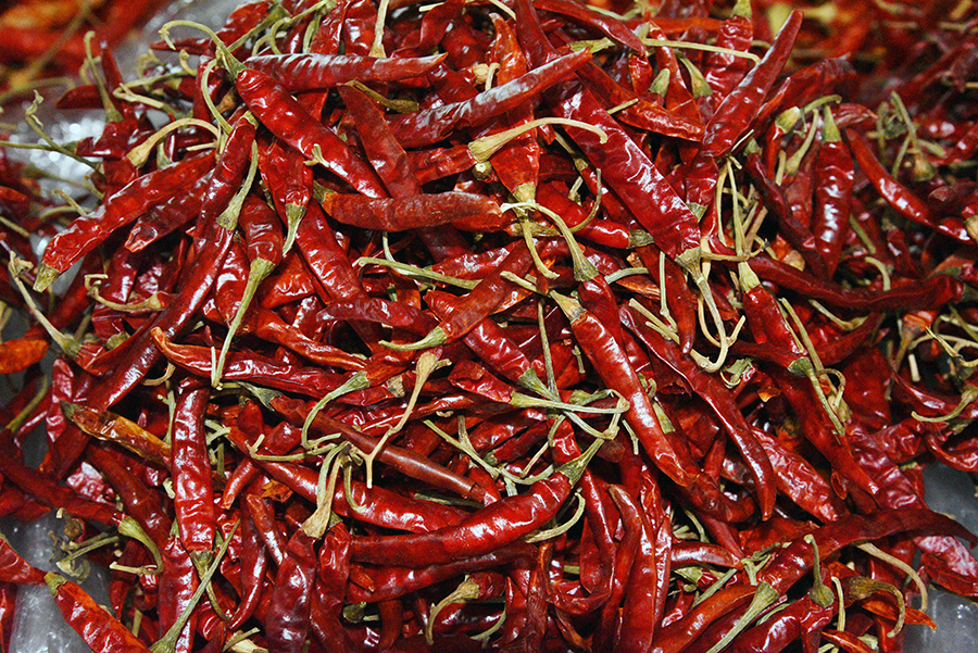 Chillies close up
