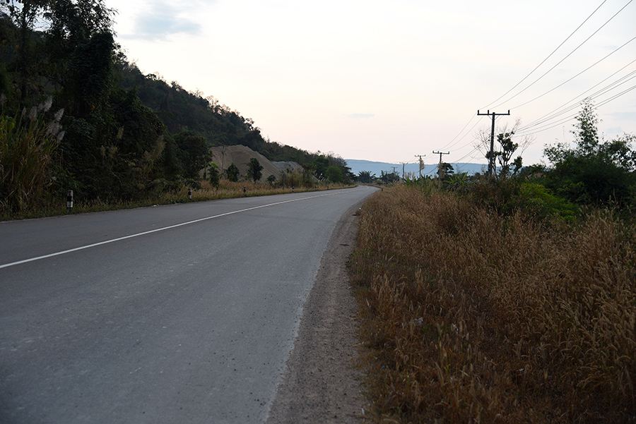 Road in the morning