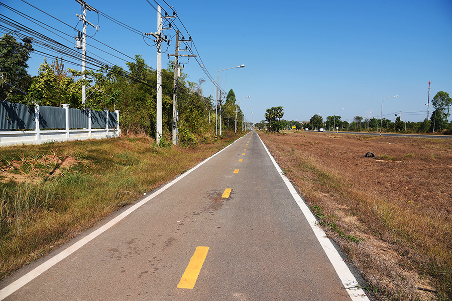 Bike paths for about 10km