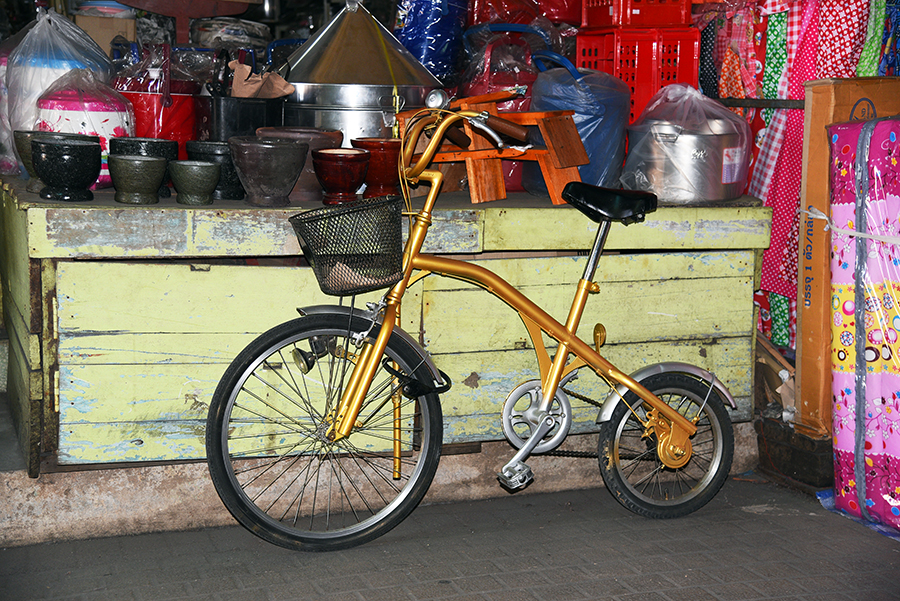 Funny bike at the market