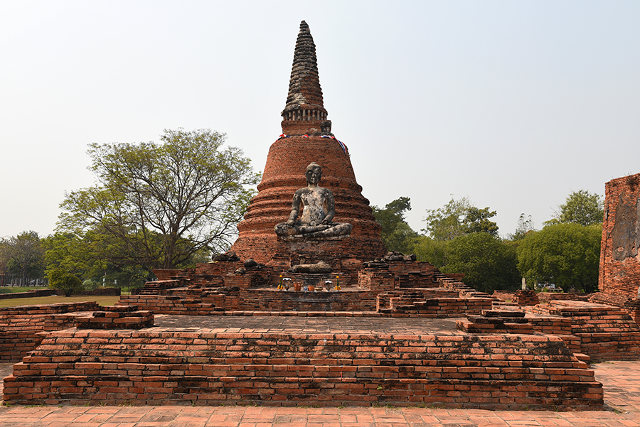 Stupa and Buddha