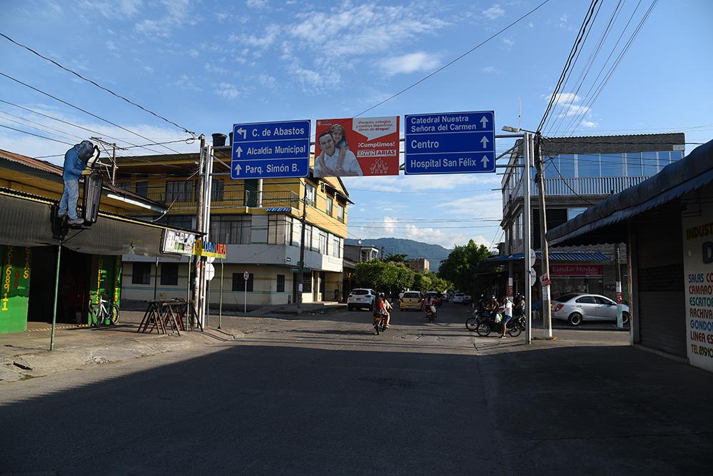 Main street in  La Dorada