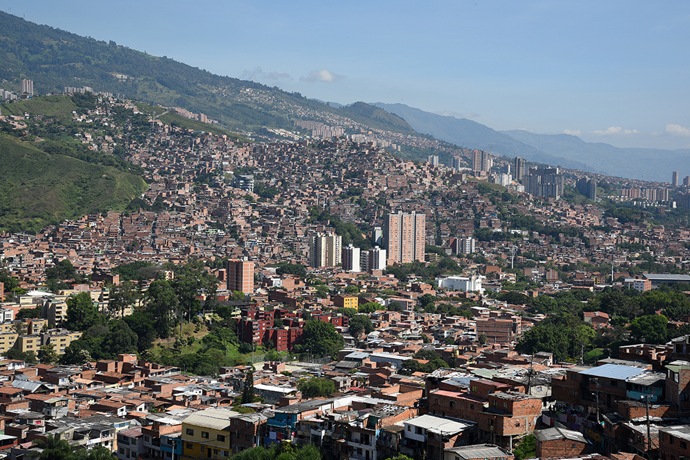 View of Medellin  from the top