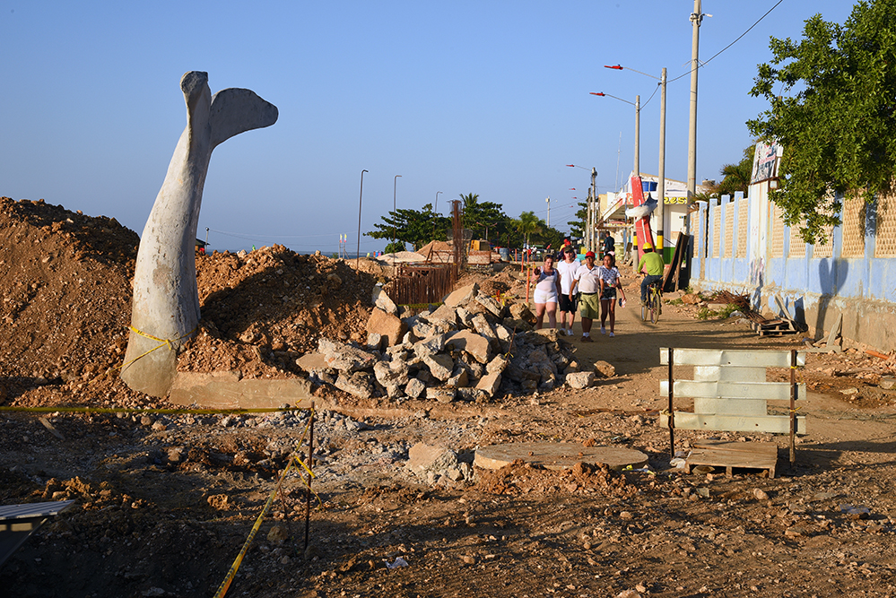 Tolu promenade under construction