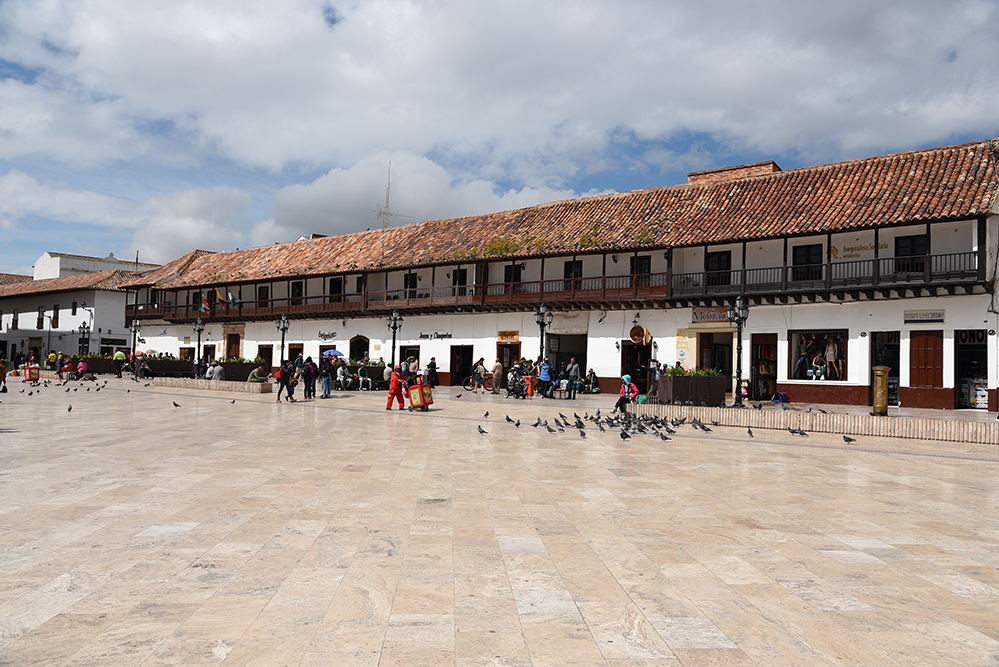 Many colonial buildings