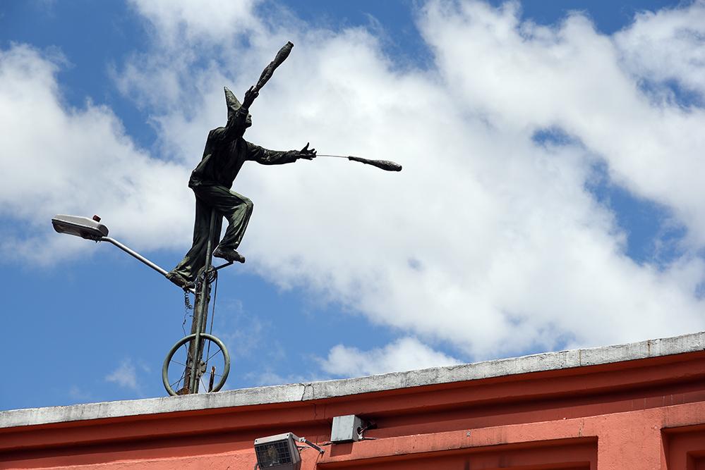 Street art  jongleur